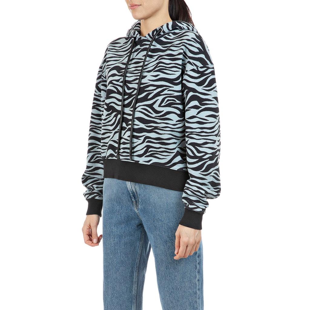 Replay Sweatshirt, cooler Hoodie mit Animal-Print