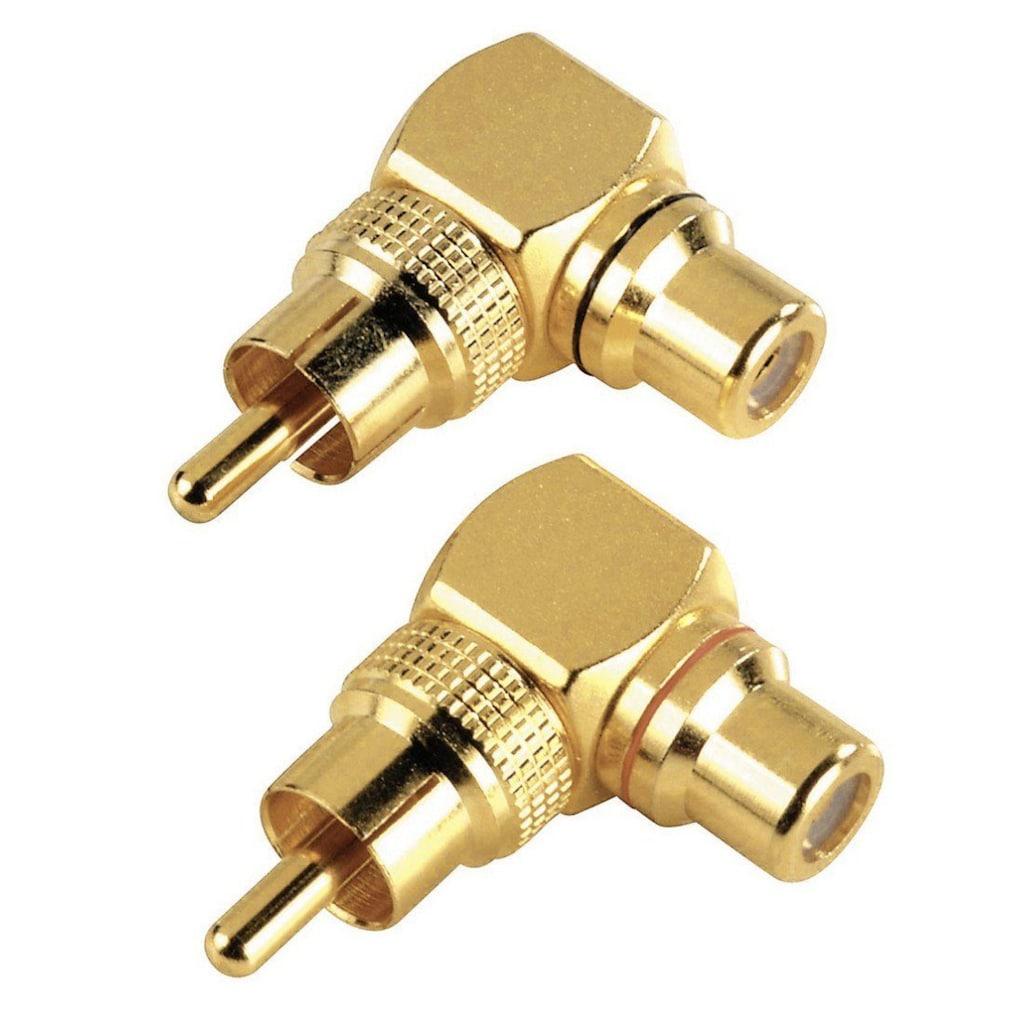 Hama Audio-Adapter »Cinch-Adapter«, Cinch zu Cinch, Cinch-Anschluss-Set 90°