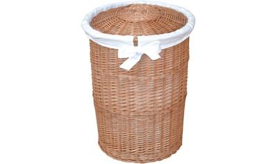 Home affaire Wäschekorb, mit Stoffeinsatz kaufen