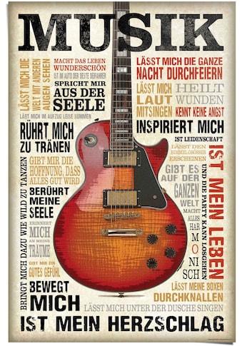 Reinders! Poster »Musik ist Leidenschaft«, (1 St.) kaufen