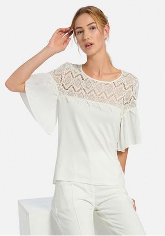 Uta Raasch Spitzenshirt »mit 1/2-Arm«, und Spitzen-Details kaufen