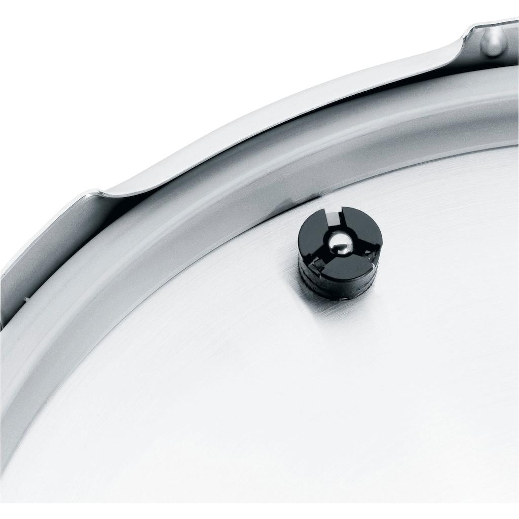 WMF Schnellkochtopf »Perfect Plus«, Cromargan® Edelstahl Rostfrei 18/10, (3 tlg.), mit abnehmbarem Griff, Ø 22 cm, Induktion
