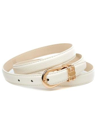 Anthoni Crown Ledergürtel, Stilvoller Ledergürtel mit leichter Oberflächennarbung kaufen