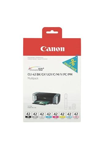 Canon Tintenpatronen-Set (CLI-42 BK/GY/LGY/C/M/Y/PC/PM) kaufen