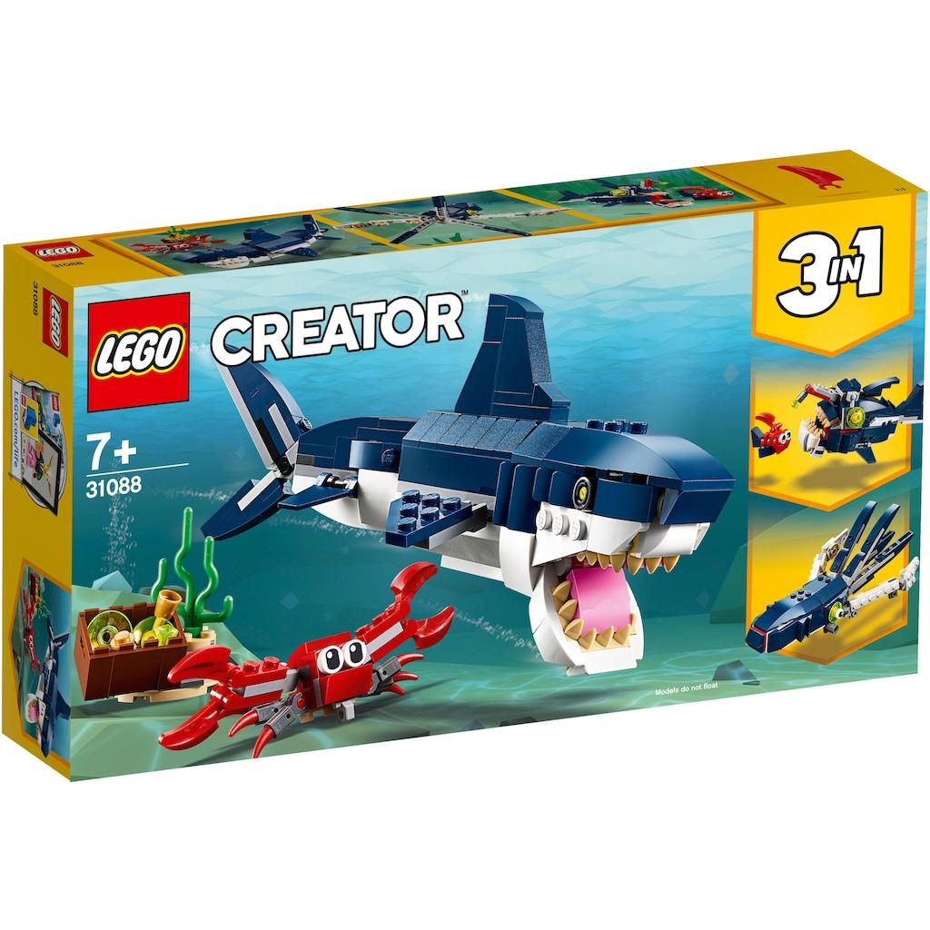 LEGO® Konstruktionsspielsteine »Bewohner der Tiefsee (31088), LEGO® Creator«, (230 St.), Made in Europe