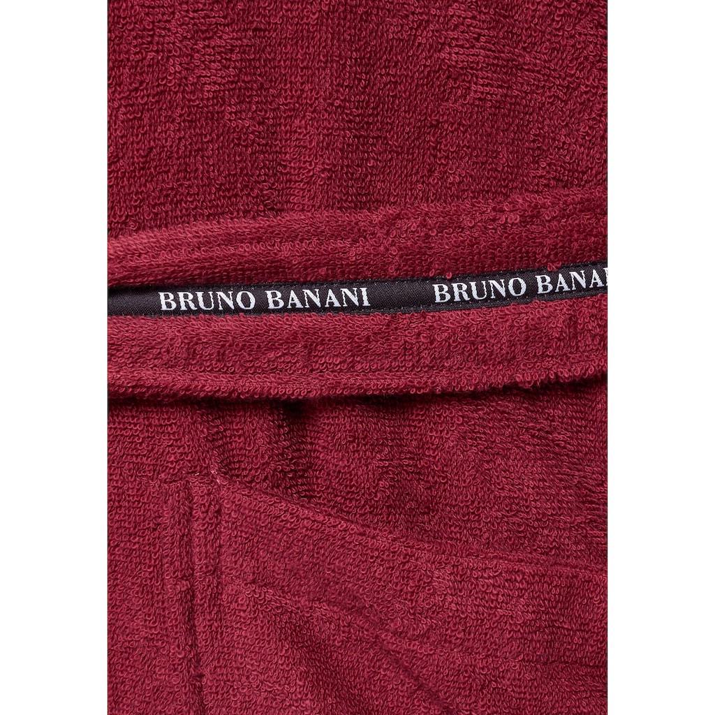 Bruno Banani Herrenbademantel »Danny«, (1 St.), mit Logostreifen auf dem Gürtel