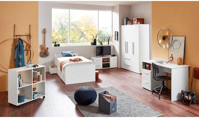arthur berndt Jugendzimmer-Set, (5 tlg., Bett + 3 trg. Schrank + Schreibtisch + Regalwagen + Lowboard), mit Melamin-Oberfläche kaufen