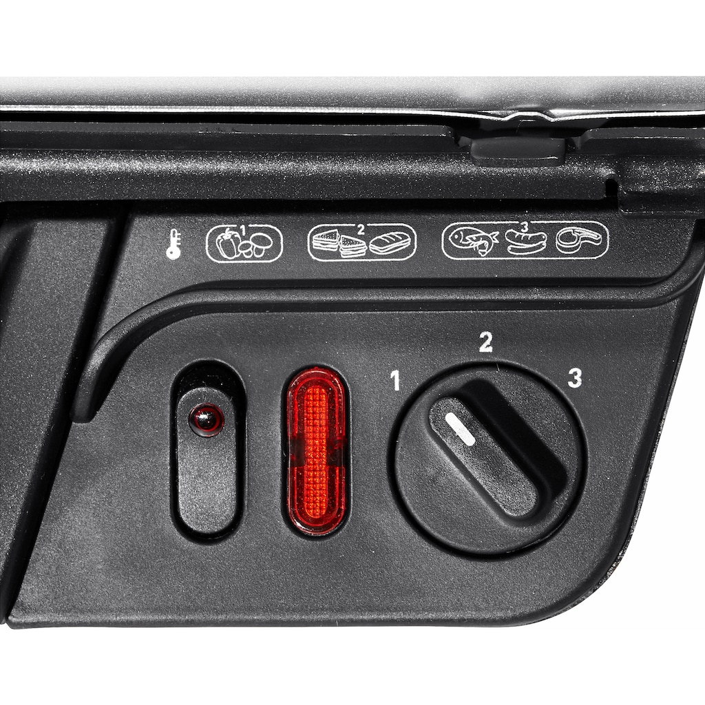 Tefal Kontaktgrill »GC3050«, 2000 W, Aufklappbar als Tischgrill/BBQ, Regelbarer Thermostat, Antihaftbeschichtet