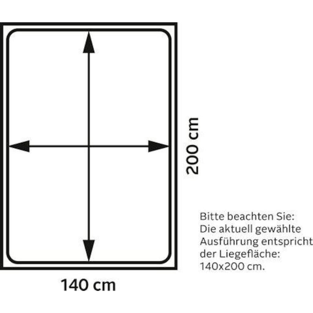 TOM TAILOR Boxspringbett »FLYING BOX«, in Schwebeoptik, kubisches Kopfteil, Höhe 118 cm
