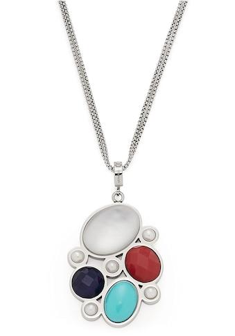 LEONARDO Kette mit Anhänger »Como, 017922«, mit imit. Perlen, synth. Türkis und... kaufen