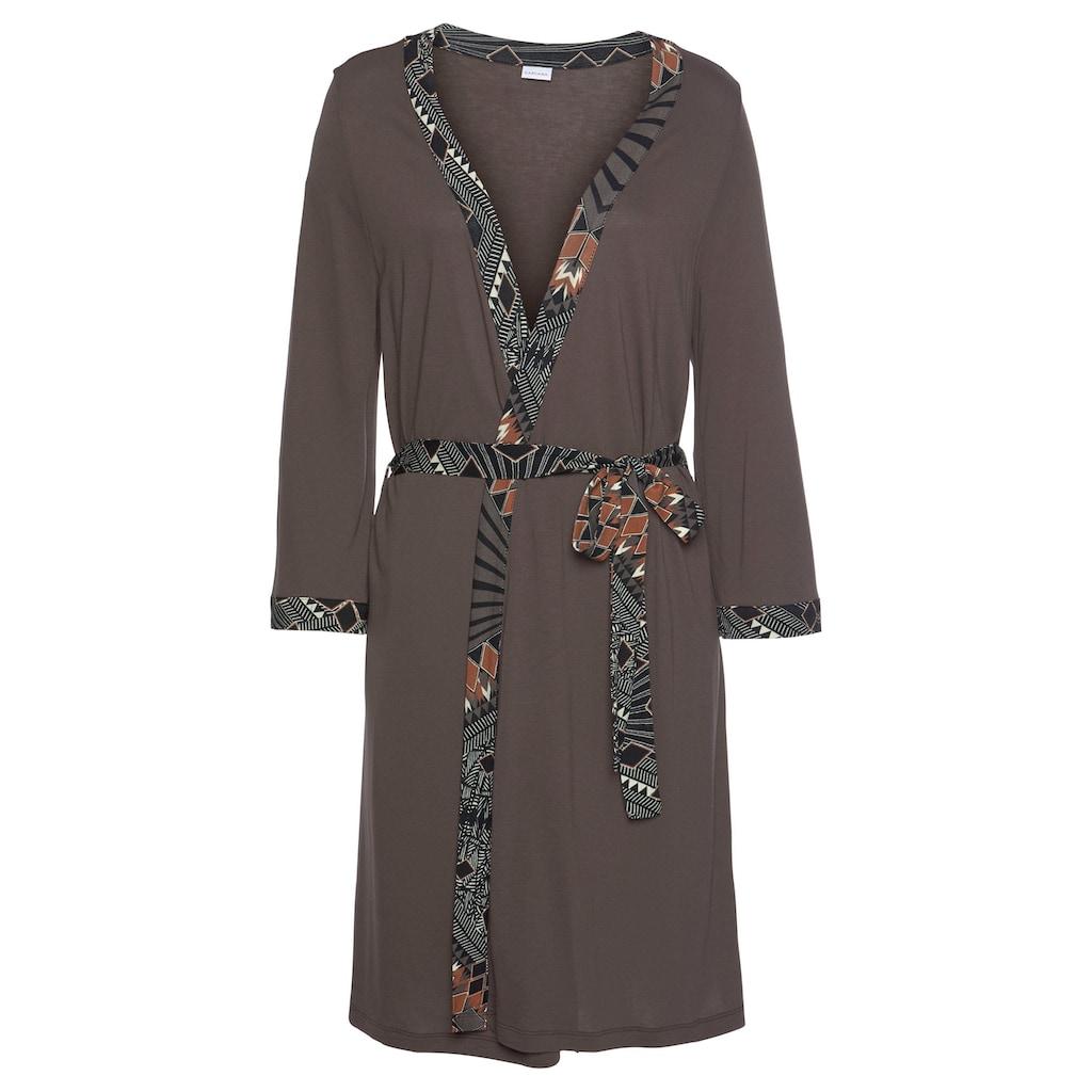 LASCANA Kimono, mit gemustertem Bindegürtel