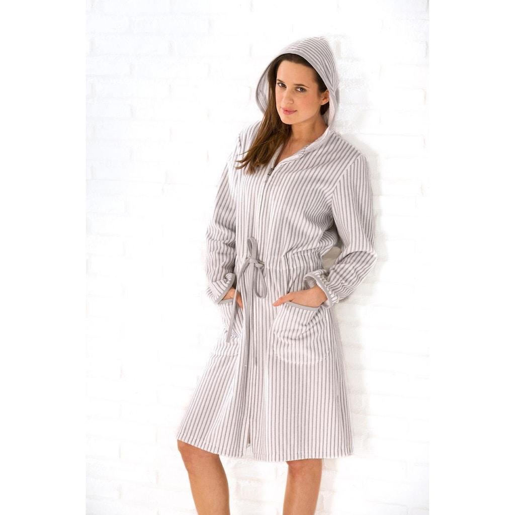 Cawö Damenbademantel »Borkum«, mit feinen Streifen