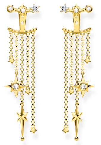 THOMAS SABO Paar Ohrstecker »Sterne Gold, H2120-414-14«, mit Zirkonia und abnehmbaren... kaufen