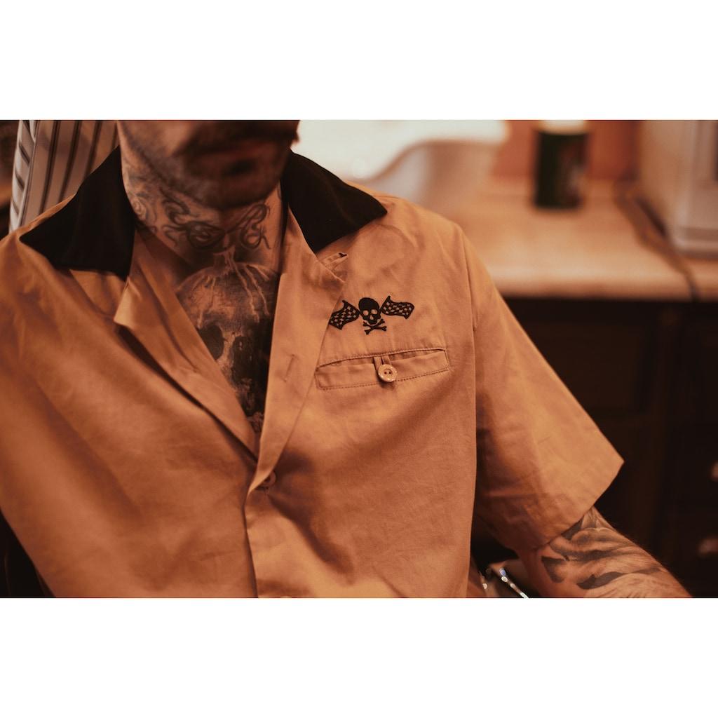 KingKerosin Kurzarmhemd, im Bowling Style mit Kontrastkragen