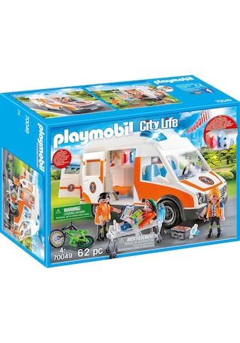 Playmobil® Konstruktions-Spielset »Rettungswagen mit Licht und Sound (70049), City... kaufen