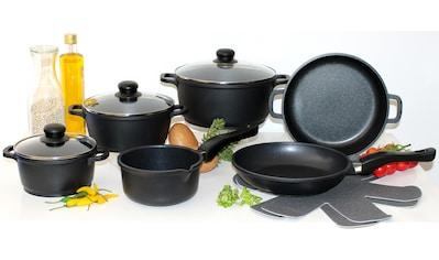Elo - Meine Küche Topf-Set, Aluminiumguss, (Set, 10 tlg., 4 Töpfe, 3, Deckel, 2 Pfannen, 1 Paar Pfannenschoner) kaufen