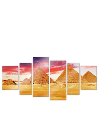 Wall-Art Mehrteilige Bilder »Pyramiden von Gizeh (6-teilig)«, (Set, 6 St.) kaufen