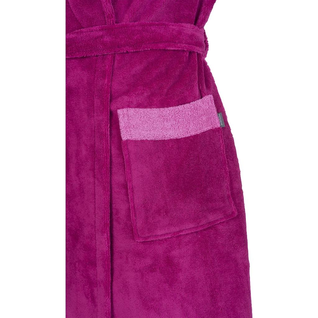 Wewo fashion Damenbademantel »4110«, (1 St., mit Gürtel), mit weicher Kapuze