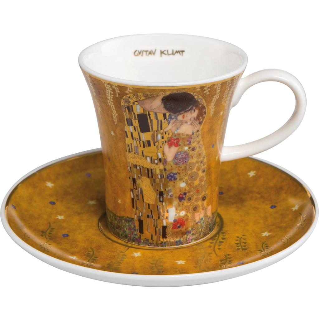 Goebel Espressotasse »Der Kuss«, goldfarben