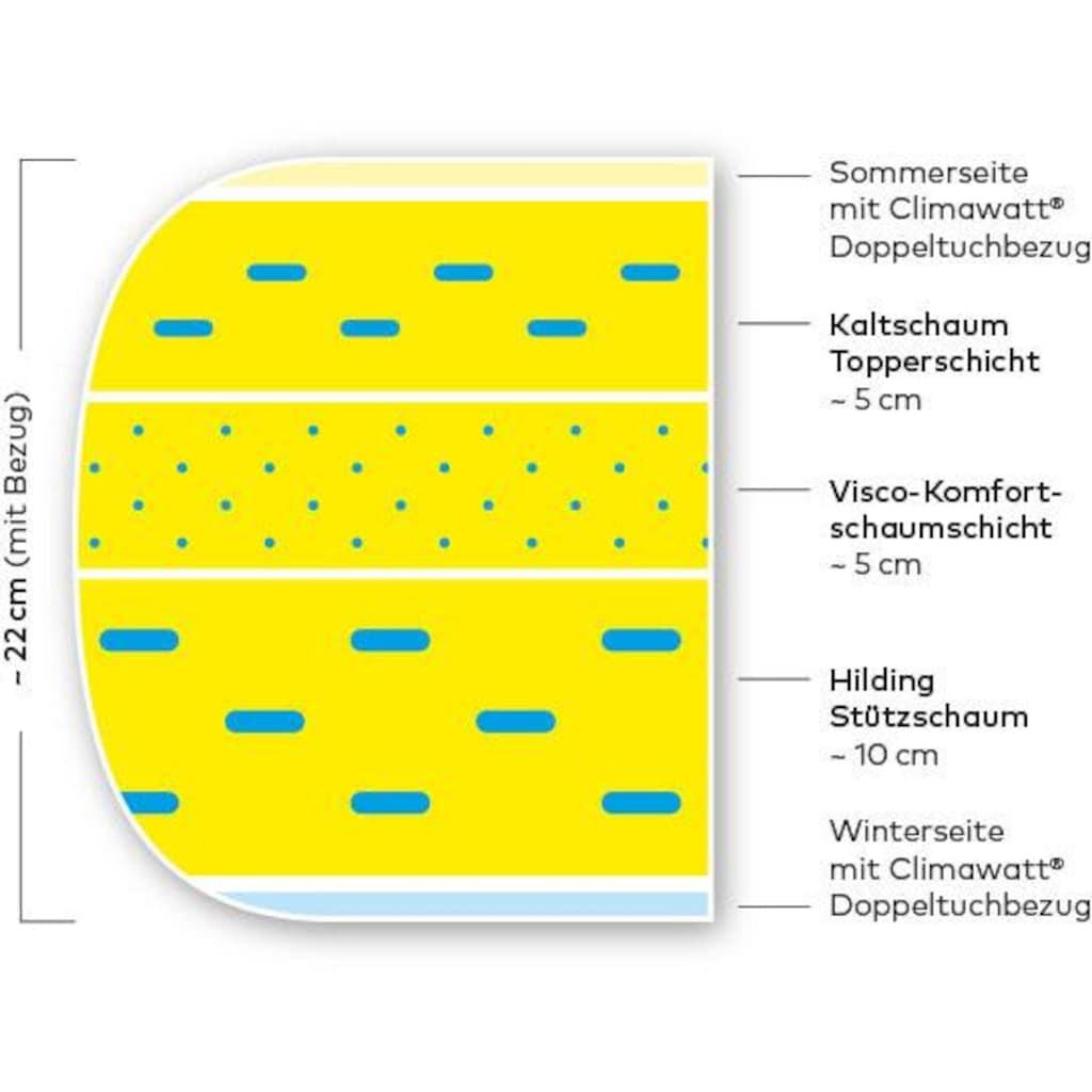 Hilding Sweden Komfortschaummatratze »Pure Multicore«, 22 cm cm hoch, Raumgewicht: 45 kg/m³, (1 St.), mit Sommer- und Winterseite
