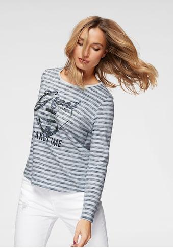 Aniston CASUAL Langarmshirt, im Marine Look kaufen