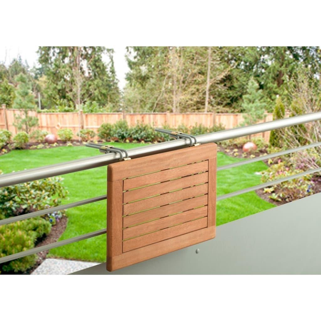 MERXX Balkonhängetisch »Holz«, für den Balkon geeignet, 60x40 cm