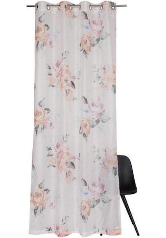 Vorhang nach Maß, »Bouquet«, SCHÖNER WOHNEN - Kollektion, Ösen 1 Stück kaufen