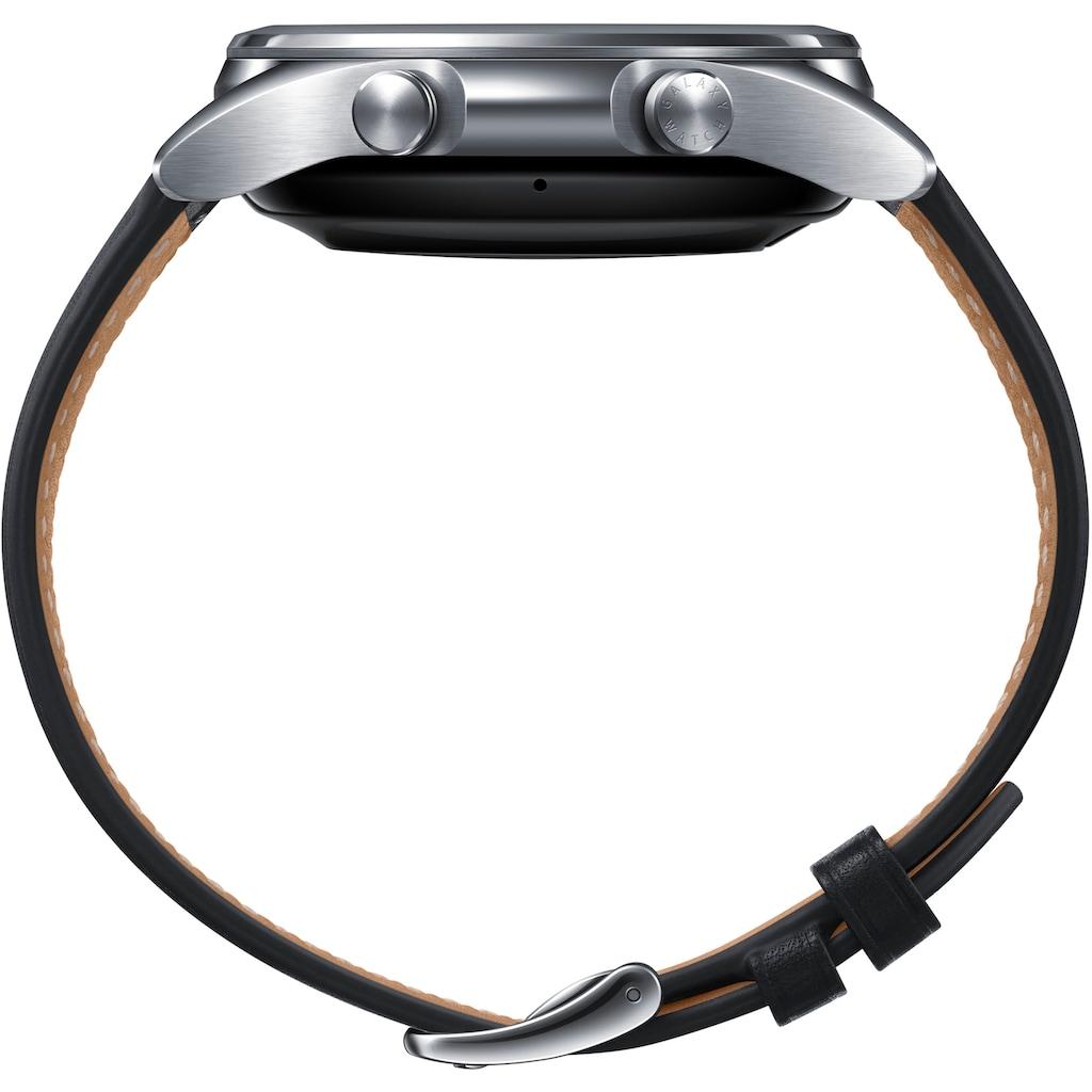 Samsung Smartwatch »Galaxy Watch 3, Edelstahl, 41 mm, Bluetooth (SM-R850)«, (Android Wear)