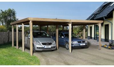 weka Doppelcarport »Optima 2«, Holz, 270 cm, braun kaufen