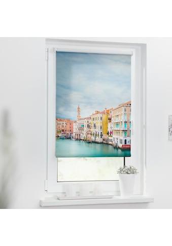 LICHTBLICK ORIGINAL Seitenzugrollo »Rollo Klemmfix, ohne Bohren, blickdicht, Venedig -... kaufen