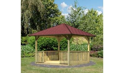 Karibu Holzpavillon »Cordoba 2«, BxT: 357x357 cm, inkl. Brüstung, Fußboden,... kaufen