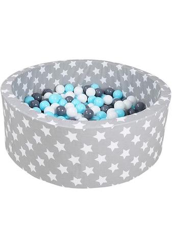 Knorrtoys® Bällebad »Soft, Grey white stars«, mit 300 Bällen creme/grey/lightblue;... kaufen