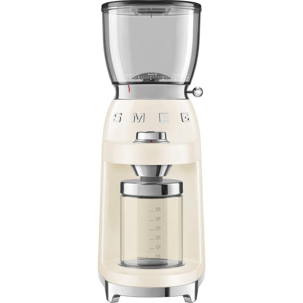 Smeg Kaffeemühle »CGF01CREU«, 150 W, Kegelmahlwerk, 350 g Bohnenbehälter