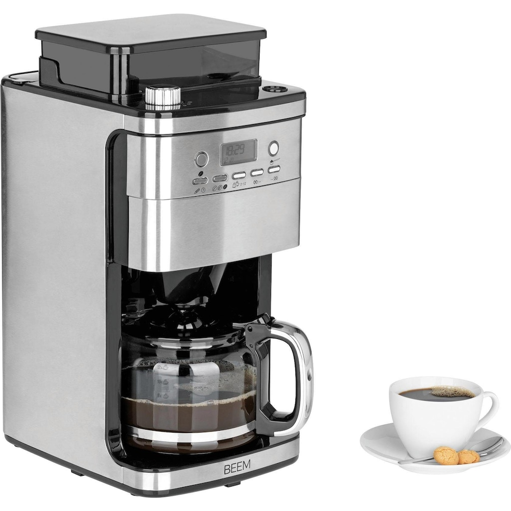 BEEM Kaffeemaschine mit Mahlwerk »Fresh-Aroma-Perfect Superior«, Permanentfilter, 1x4, mit Glaskanne