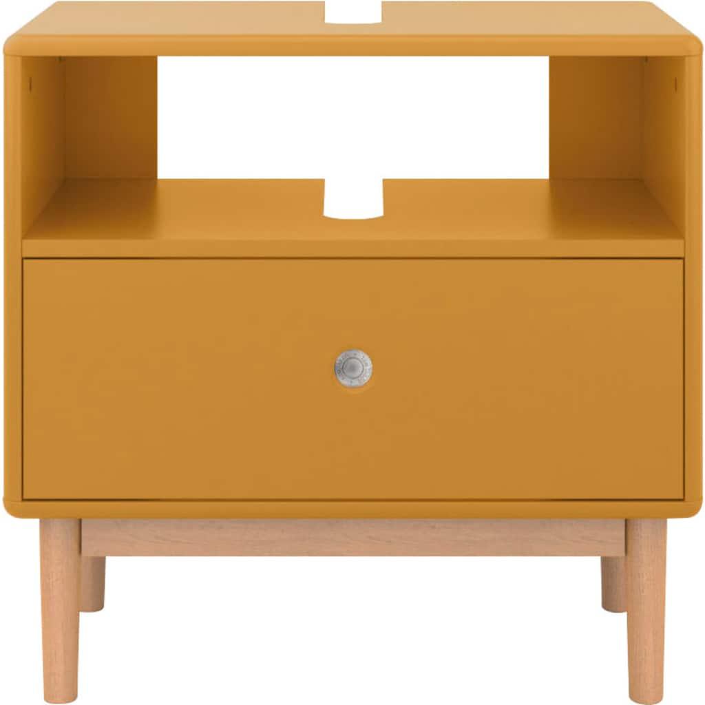 TOM TAILOR Waschbeckenunterschrank »COLOR BATH«, mit 1 Schublade, mit Push-to-Open, mit Füßen in Eiche geölt, Breite 65 cm
