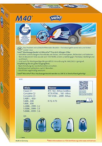 Swirl Staubsaugerbeutel »Swirl® M40 Staubsaugerbeutel für Miele und Hoover«, (Packung,... kaufen