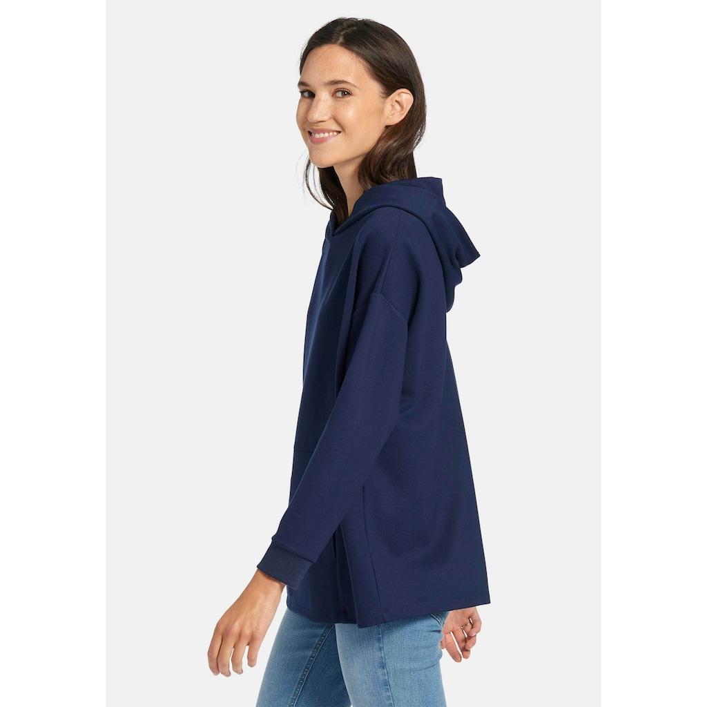 DAY.LIKE Sweatshirt »mit überschnittener Schulter«, und Kapuze