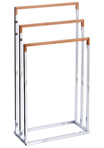 Zeller Present Handtuchständer, Bambus/Metall verchromt, 45x21,5x84,5 cm kaufen