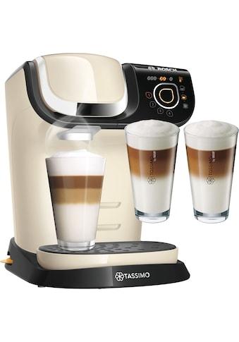 TASSIMO Kapselmaschine »MY WAY 2 WTAS6507«, Kaffeemaschine by Bosch, creme, mit Wasserfilter, über 70 Getränke, Personalisierung, inkl. TASSIMO Latte-Macchiato-Glas »by WMF, 2er Pack« im Wert von 9,99 € UVP kaufen