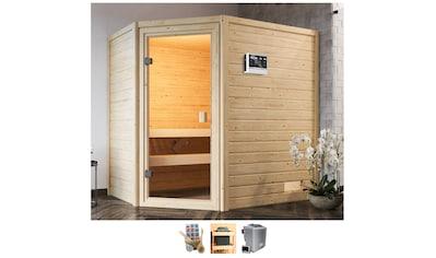 Karibu Sauna »Juli«, 4,5-kW-Bio-Ofen mit ext. Steuerung kaufen