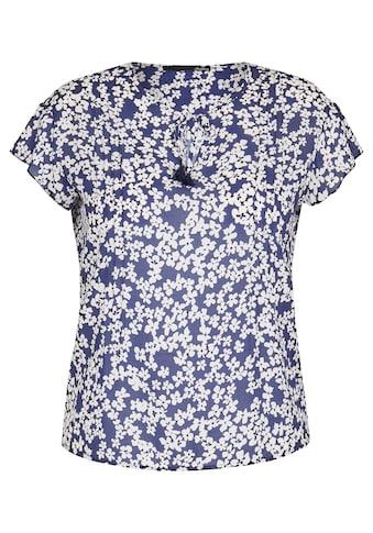 LeComte Schlupfbluse, mit Blumen-Muster und Bindeband kaufen