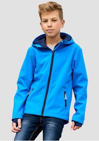 KIDSWORLD Softshelljacke »mit kontrastfarbenen Details« kaufen
