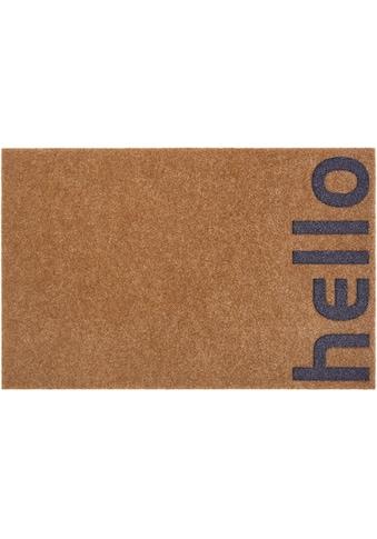 andas Fußmatte »Hello klein«, rechteckig, 10 mm Höhe, Fussabstreifer, Fussabtreter, Schmutzfangläufer, Schmutzfangmatte, Schmutzfangteppich, Schmutzmatte, Türmatte, Türvorleger, mit Spruch, In- und Outdoor geeignet, Kokos-Optik kaufen
