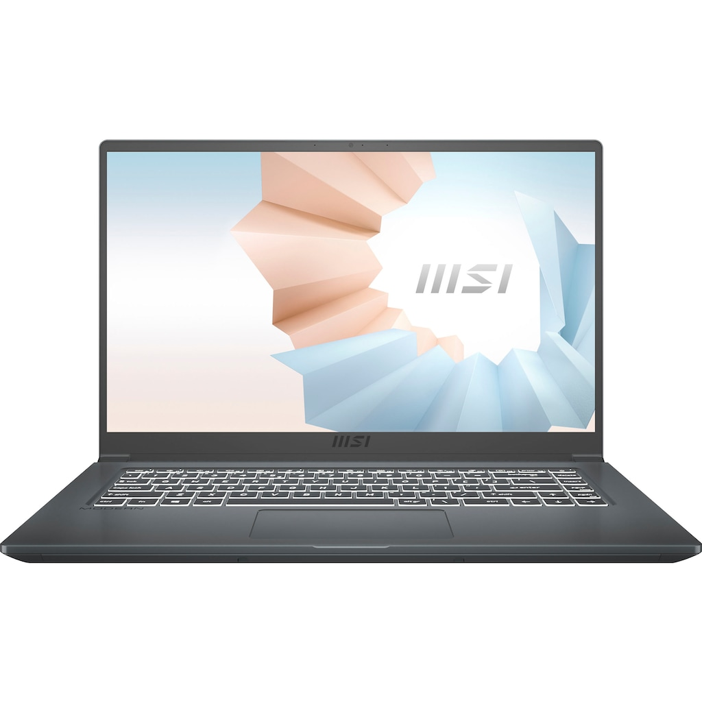 "MSI Notebook »Modern 15 A10M-641«, (39,6 cm/15,6 "" Intel Core i5 UHD Graphics\r\n 512 GB SSD), Kostenloses Upgrade auf Windows 11, sobald verfügbar"