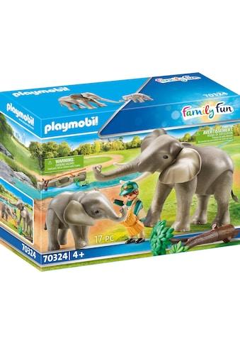Playmobil® Konstruktions-Spielset »Elefanten im Freigehege (70324), Family Fun«, ;... kaufen
