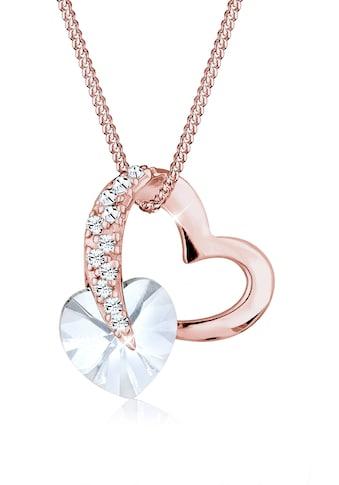 Elli Collierkettchen »Herz Anhänger Kristallen Roségold« kaufen