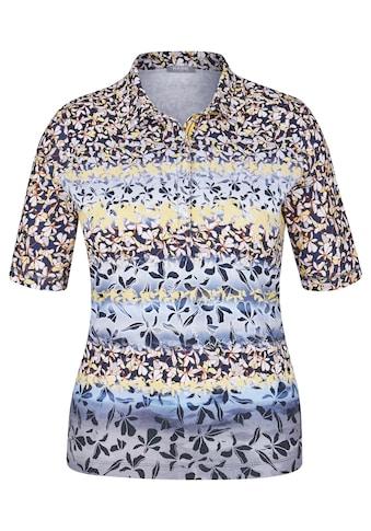 Rabe Polo - Shirt mit Allover - Print und Streifenoptik kaufen