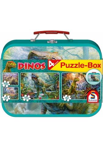 Schmidt Spiele Puzzle »Dinos Box, 2x60 und 2x100 Teile« kaufen