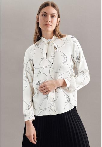 seidensticker Klassische Bluse »Schwarze Rose«, Langarm Rundhals Druck kaufen