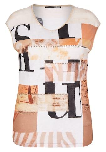 LeComte Shirt mit Allover-Print und Ziersteinen kaufen